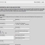 HR Portal Sample Form